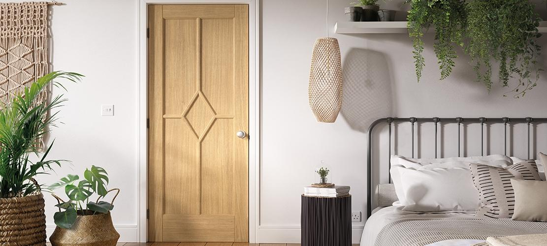 The Reims Oak internal door displayed in a room setting lifestyle image