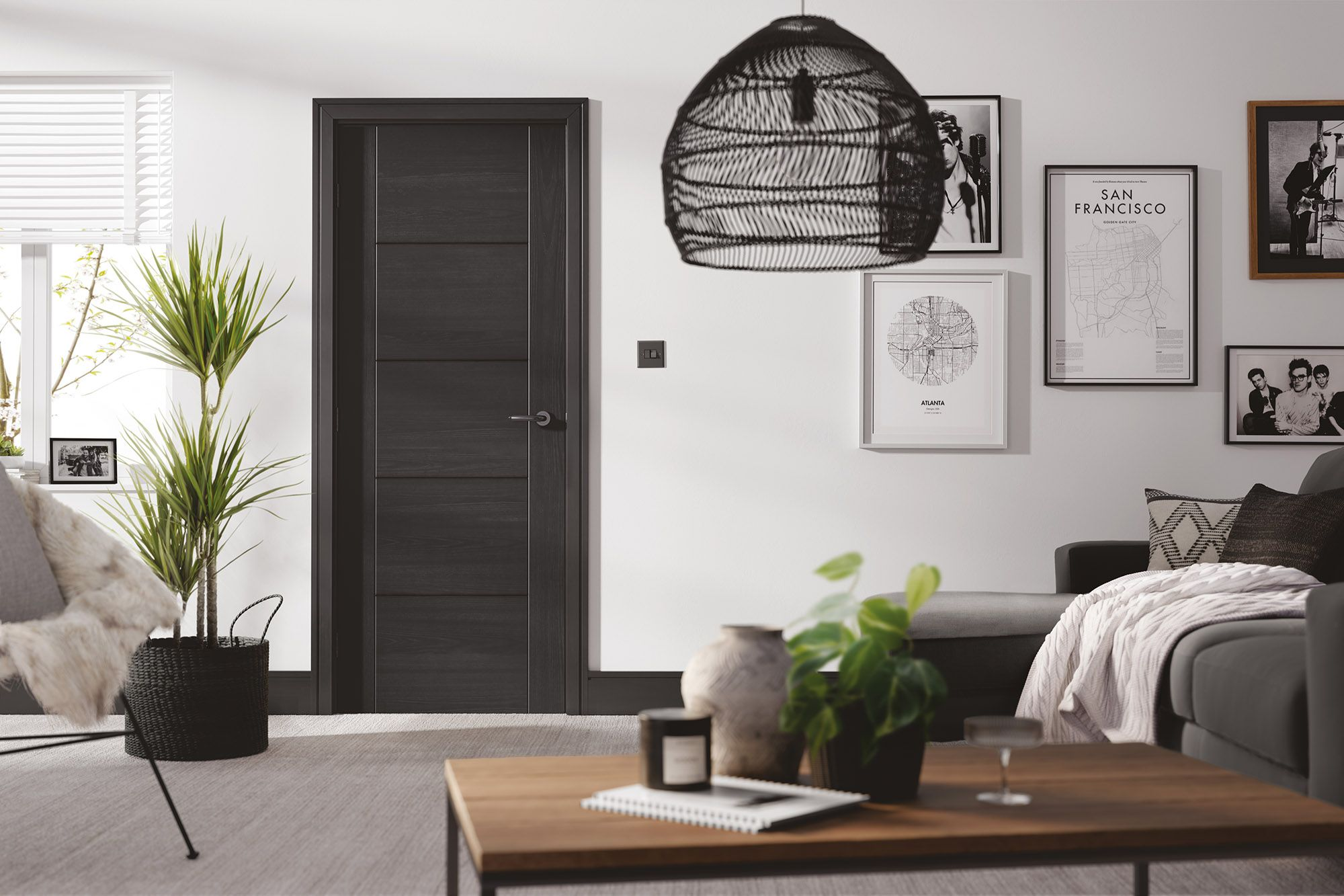 Charcoal paint finished Vancouver internal door